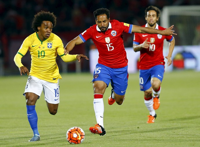 Brasil - Chile - Eliminatórias - Willian (Foto: Reuters)