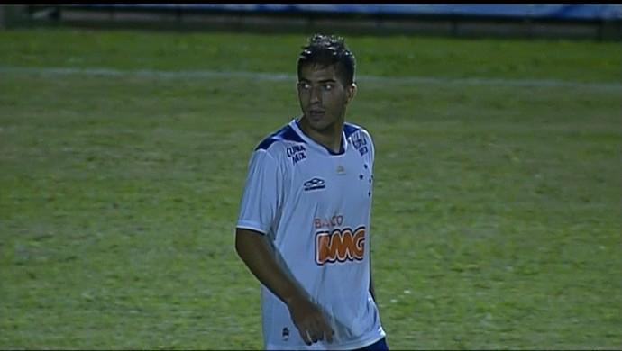 Lucas Silva, no empate sem gols com a Caldense (Foto: Reprodução / Premiere FC)