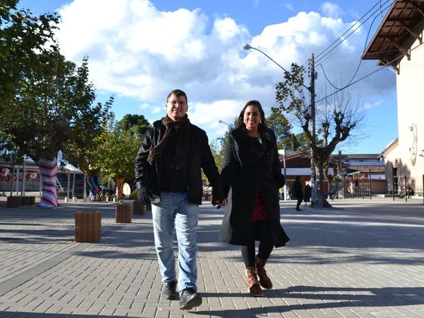 Pessoas que amam frio - Camila Chaves e João Oliveira - página especial de inverno Campos do Jordão (Foto: Filipe Rodrigues/G1)
