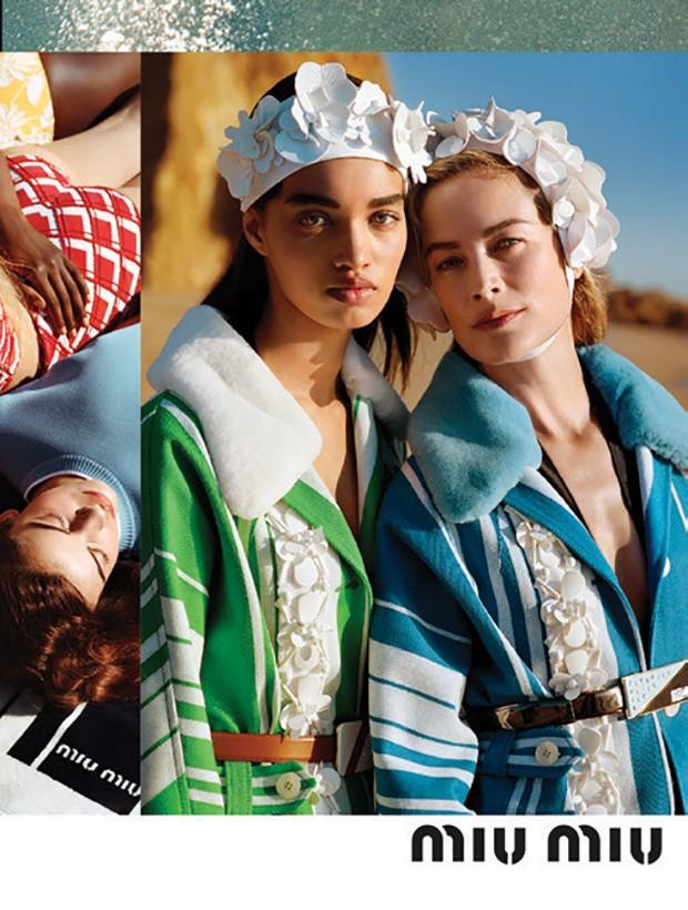 Ellen Rosa na campanha da Miu Miu/inverno 2017/18 (Foto: Arquivo Vogue, Arquivo Pessoal, Tiago Petrik, Lorenzo Holder, Reprodução e Divulgação)