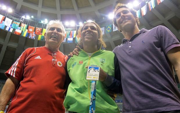 judô Rafaela Silva, Flavio Canto e Geraldo Bernardes (Foto: Thierry Gozzer)