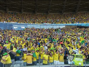GNews - Torcida brasileira no Mineirão, Copa do Mundo (Foto: globonews)