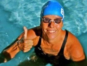 Susana Schnarndorf nadadora triatleta Travessia dos Fortes Copacabana Rio de Janeiro (Foto: Arquivo Pessoal)
