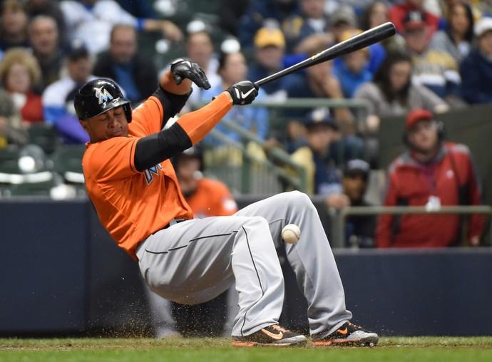 Giancarlo Stanton beisebol bolada Miami Marlins (Foto: Reuters)