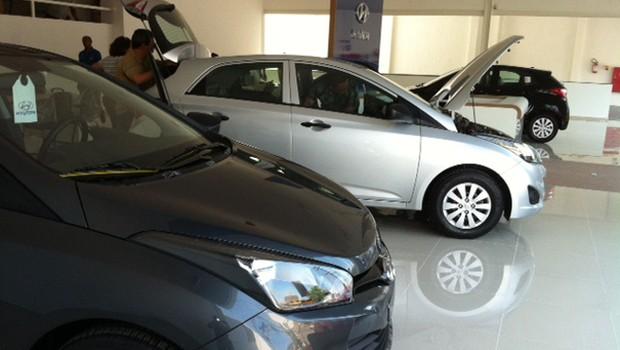 Concessionária Hyundai recém-aberta para vendas do HB20 (Foto: Hairton Ponciano Voz)