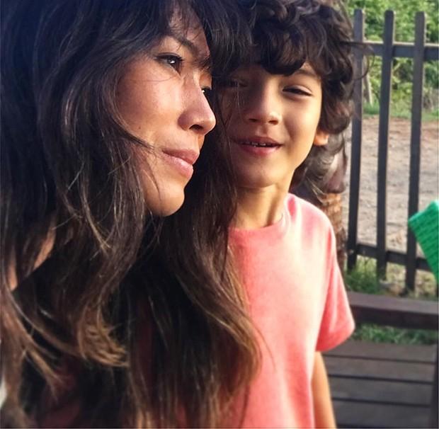 Danni Suzuki e seu filho, Kauai (Foto: Reprodução Instagram)