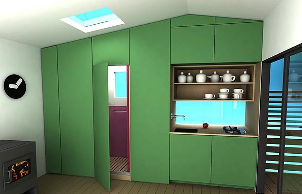 Módulos com banheiro e cozinha (Foto: Divulgação)
