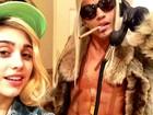 Namorado de Madonna imita Karl Lagerfeld em foto com Lourdes Maria