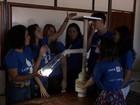 Grupo do DF ganha prêmio por poste com garrafas PET e lâmpadas de LED