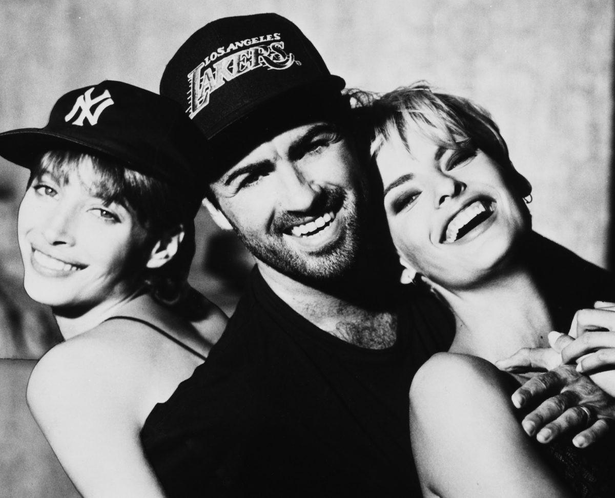 Christy, George e Linda Evangelista  (Foto: Reproduo/Facebook)