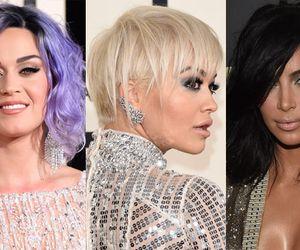 Kim Kardashian, Katy Perry e Rita Ora radicalizam o visual e surgem com cabelos curtos no Grammy
