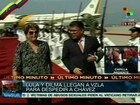 Dilma e Lula chegam a Caracas para participar do funeral de Chávez