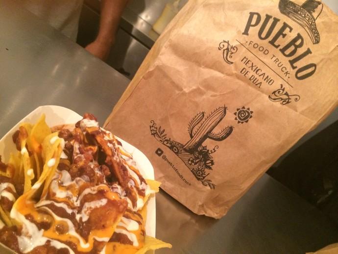 Nachos Calientes é uma das opções do food truck da Pueblo (Foto: Aline Cornely / Gshow)