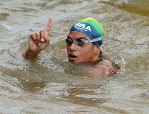Maratona aquática Ana Marcela Cunha no sul-americano de Belém (Foto: Satiro Sodré / Agif)