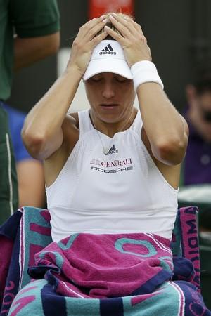 Kerber lamenta derrota para Muguruza em Wimbledon (Foto: Daniel LEAL-OLIVAS / AFP)