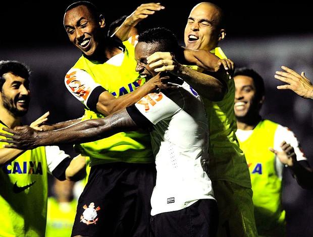 Cléber comemoração gol Corinthians contra Bahia (Foto: Marcos Ribolli / Globoesporte.com)