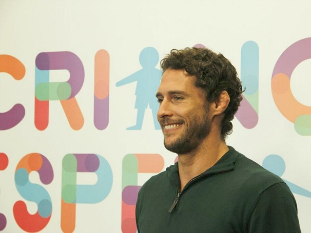 Flavio Canto participou da coletiva do início da Campanha Criança Esperança (Foto: Divulgação)