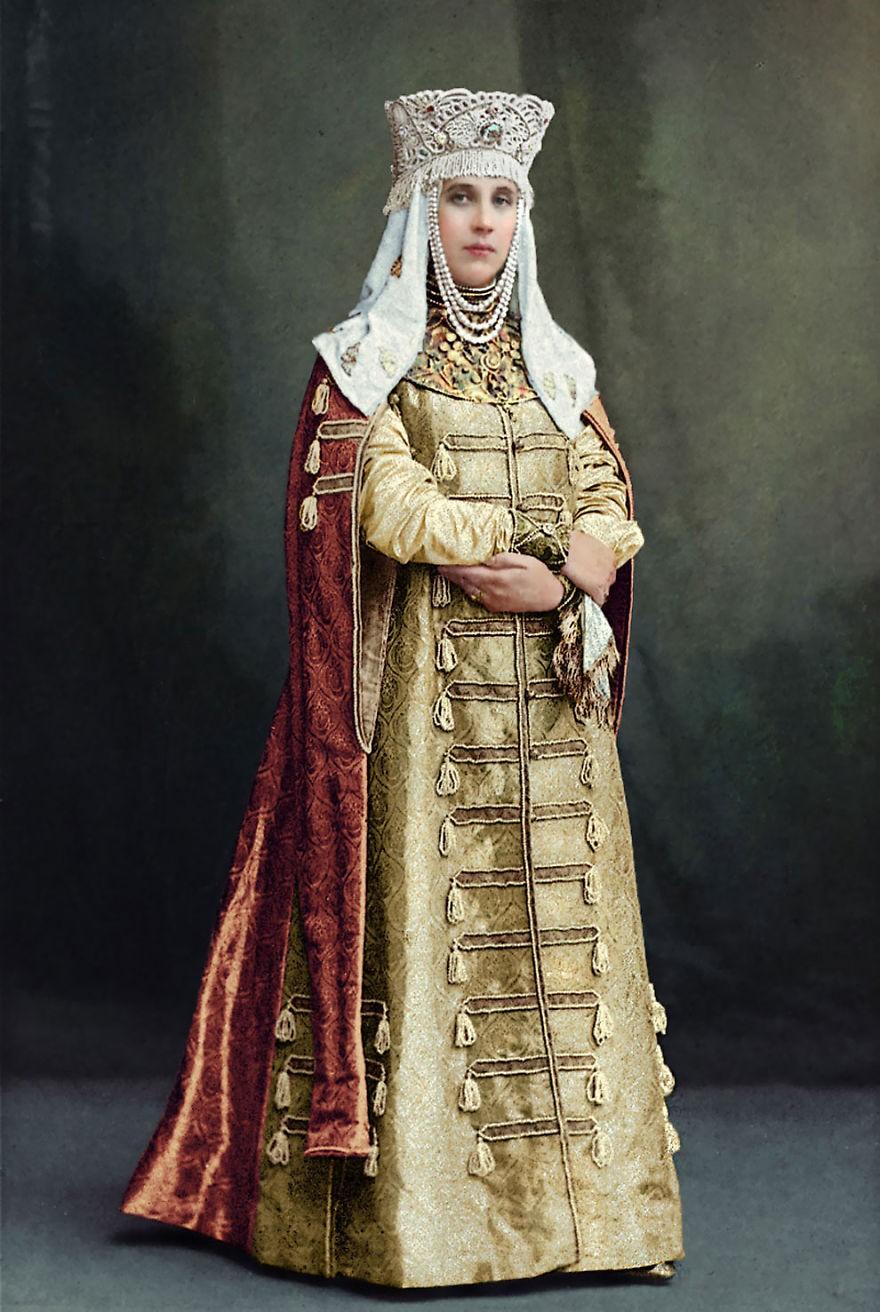 Condessa Elisabeth Moussine-Pouchkine, em 1903 (Foto: Reprodução)