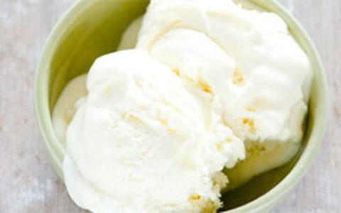 Sorvete de iogurte e limão