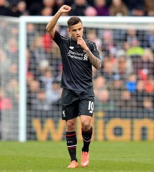Philippe Coutinho comemora gol Liverpool (Foto: Adam Davy / PA via AP)