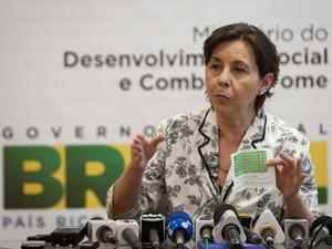 A ministra Tereza Campello, durante entrevista no Ministério do Desenvolvimento Social (Foto: Ubirajara Machado/MDS)