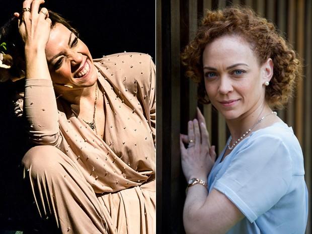 Laila em dois momentos: como Elis, nos palcos, e como Maria José, em Babilônia (Foto: Caio Calucci/Divulgação e Estevam Avellar/Globo)