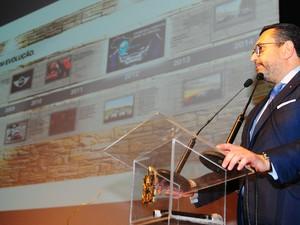 Presidente da BMW, Arturo Piñero, discursou durante a cerimônia (Foto: Antônio Carlos Mafalda/SECOM)