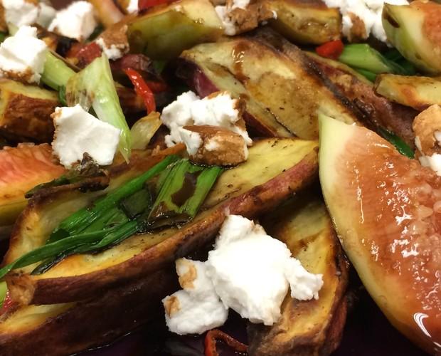Salada de batata doce e figo (Foto: Divulgação)