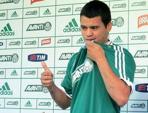 Mendieta apresentado Palmeiras (Foto: Adilson Barros)