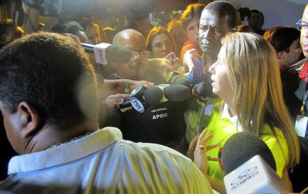 Patricia Amorim eleições Flamengo (Foto: Janir Junior / Globoesporte.com)
