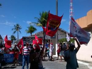 Integrantes de movimentos agrários cobram recursos do governo federal (Foto: Marcos Antônio da Silva/MVT)