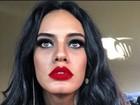 Leticia Lima exibe lábios fartos e vermelhos e fã compara: 'Megan Fox'