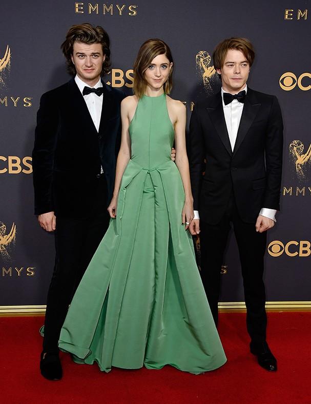 Joe Keery, Natalia Dyer e Charlie Heaton  (Foto: Getty Images)
