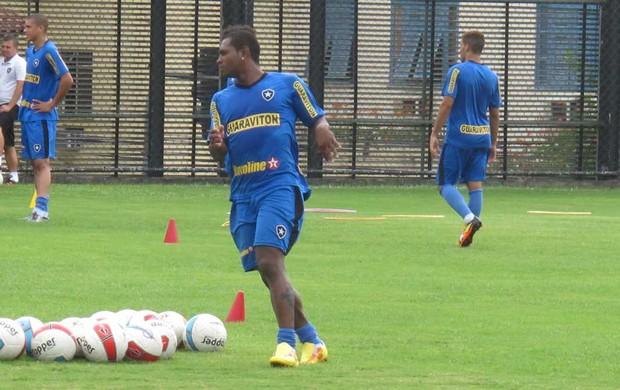 Jobson treino Botafogo (Foto: André Casado / Globoesporte.com)