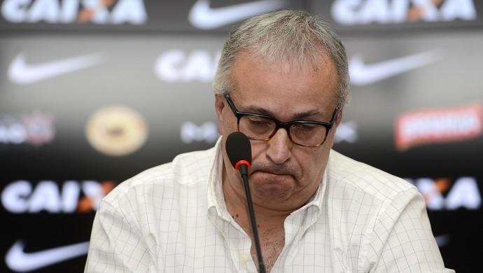Roberto de Andrade - coletiva - presidente do Corinthians (Foto: MAURO HORITA - Agência Estado)