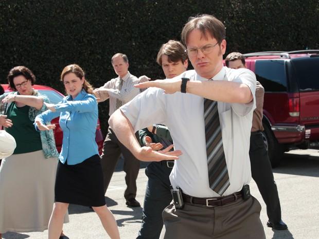 Imagem da última temporada do seriado 'The office' divulgada nesta segunda-feira (13) pela rede de TV NBC (Foto: AP/NBC)