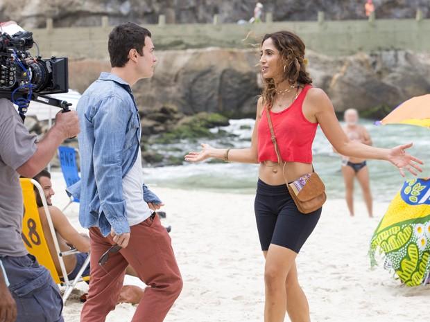 O ator rodou cena de Luís Fernando ao lado de Camila, que vive Regina (Foto: Felipe Monteiro/Gshow)