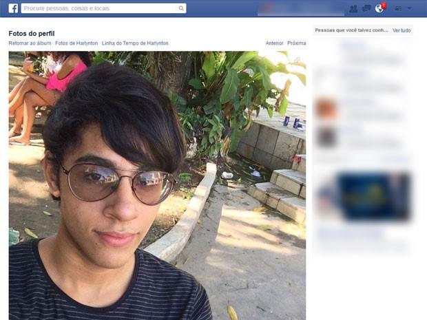 Harlynton Lima dos Santos morreu na manhã desta terça-feira (Foto: Reprodução / Facebook)