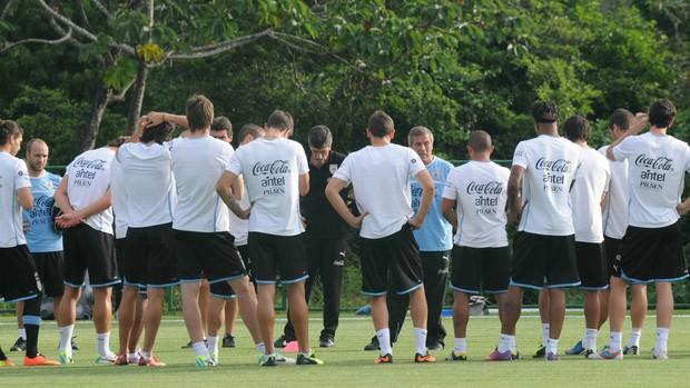 Treino Uruguai Copa da Confederações (Foto: Aldo Carneiro / Pernambuco Press)