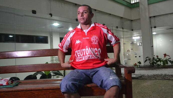 América-RN 100 anos: Carioca, ex-jogador (Foto: Jocaff Souza/GloboEsporte.com)