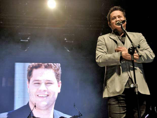 Leonardo em show no Credicard Hall (Foto: Fbio Guinalz/FotoArena/AE)