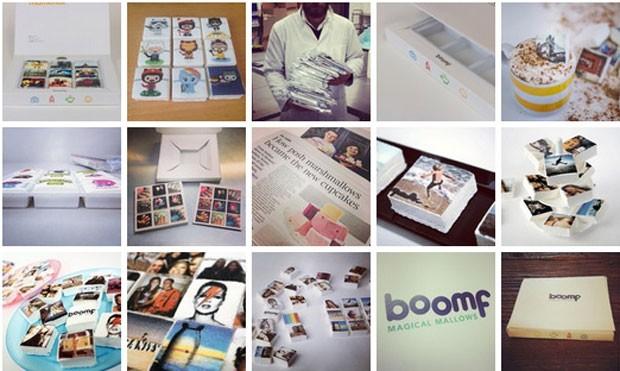 Empresa mostra marshmallows com fotos do Instagram (Foto: Divulgação/Boomf)