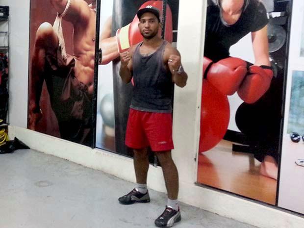 Pow, lutador de Jiu-Jitsu de Divinópolis (Foto: Marina Alves/GLOBOESPORTE.COM)