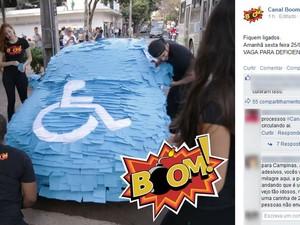 Centenas de pessoas acompanharam a ação (Foto: Reprodução/Facebook)