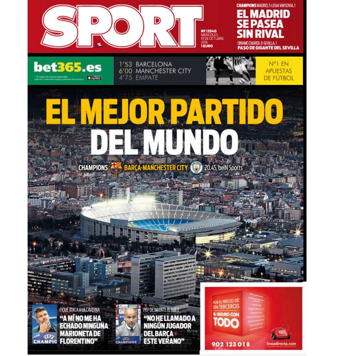 """BLOG: """"A melhor partida do mundo"""", diz jornal espanhol sobre Barça x Manchester City"""