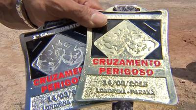 Medalhas conquistadas em torneio no Paraná (Foto: Reprodução/TV Morena)