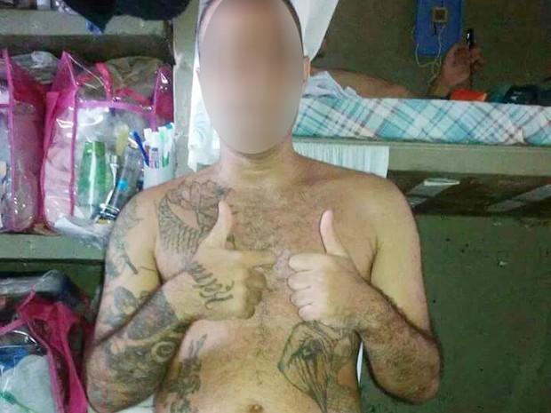 Detento tinha um perfil falso em uma rede social (Foto: Reprodução/TV Fronteira)