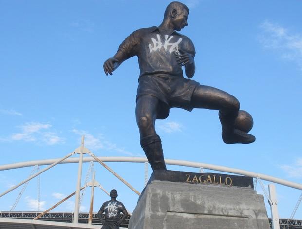 Estátua Zagallo (Foto: Fred Huber)