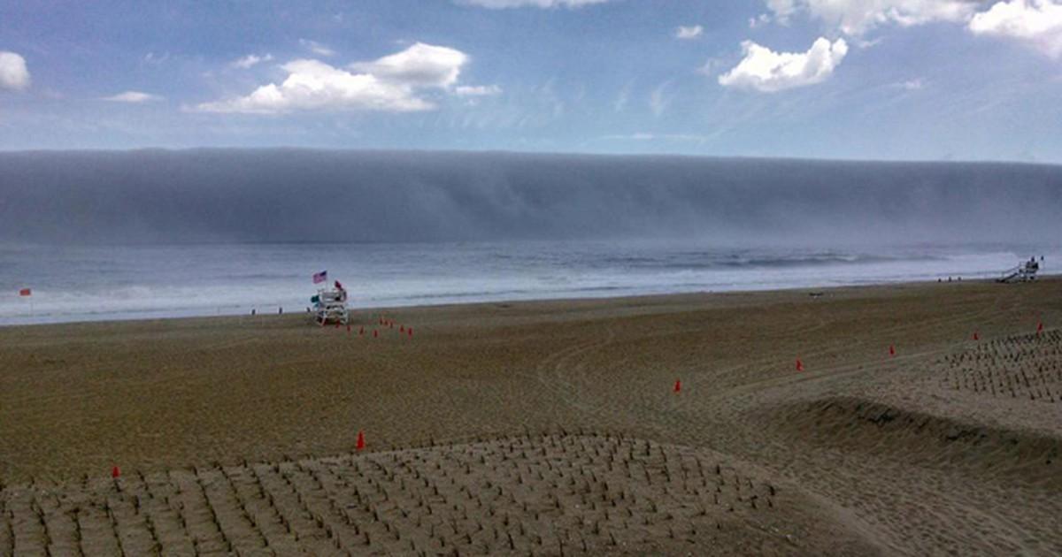 Ilusão de ótica faz neblina parecer onda gigante nos Estados Unidos