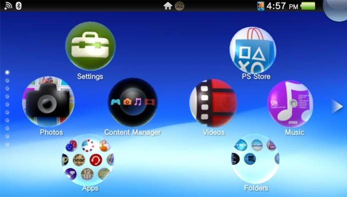 Passo 1 - Selecione o ícone do Content Manager no PS Vita (Foto: Reprodução) (Foto: Passo 1 - Selecione o ícone do Content Manager no PS Vita (Foto: Reprodução))